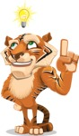 Cute Tiger Cartoon Vector Character AKA Tiger Bone - Idea 2