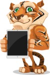 Cute Tiger Cartoon Vector Character AKA Tiger Bone - iPad 1