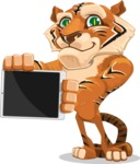 Cute Tiger Cartoon Vector Character AKA Tiger Bone - iPad 2