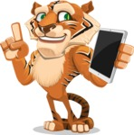 Cute Tiger Cartoon Vector Character AKA Tiger Bone - iPad 3