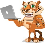 Cute Tiger Cartoon Vector Character AKA Tiger Bone - Laptop 1