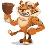 Cute Tiger Cartoon Vector Character AKA Tiger Bone - Meat