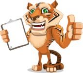 Cute Tiger Cartoon Vector Character AKA Tiger Bone - Notepad 1