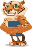 Cute Tiger Cartoon Vector Character AKA Tiger Bone - Notepad 2