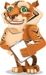 Cute Tiger Cartoon Vector Character AKA Tiger Bone - Notepad 4