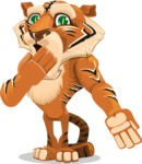 Cute Tiger Cartoon Vector Character AKA Tiger Bone - Oops