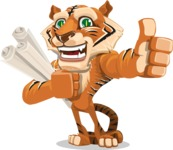 Cute Tiger Cartoon Vector Character AKA Tiger Bone - Plans