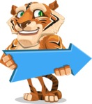 Cute Tiger Cartoon Vector Character AKA Tiger Bone - Pointer 2
