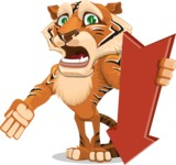Cute Tiger Cartoon Vector Character AKA Tiger Bone - Pointer 3