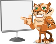 Cute Tiger Cartoon Vector Character AKA Tiger Bone - Presentation 2