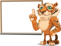 Cute Tiger Cartoon Vector Character AKA Tiger Bone - Presentation 3