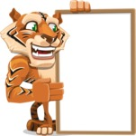 Cute Tiger Cartoon Vector Character AKA Tiger Bone - Presentation 4