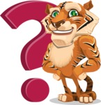 Cute Tiger Cartoon Vector Character AKA Tiger Bone - Question