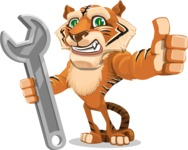 Cute Tiger Cartoon Vector Character AKA Tiger Bone - Repair