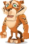 Cute Tiger Cartoon Vector Character AKA Tiger Bone - Sad