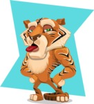 Cute Tiger Cartoon Vector Character AKA Tiger Bone - Shape 10
