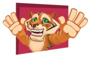 Cute Tiger Cartoon Vector Character AKA Tiger Bone - Shape 3