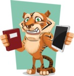 Cute Tiger Cartoon Vector Character AKA Tiger Bone - Shape 5