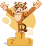 Cute Tiger Cartoon Vector Character AKA Tiger Bone - Shape 7