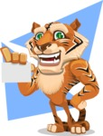 Cute Tiger Cartoon Vector Character AKA Tiger Bone - Shape 8