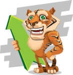 Cute Tiger Cartoon Vector Character AKA Tiger Bone - Shape 9
