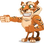 Cute Tiger Cartoon Vector Character AKA Tiger Bone - Show 2