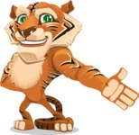 Cute Tiger Cartoon Vector Character AKA Tiger Bone - Show
