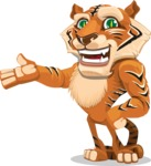 Cute Tiger Cartoon Vector Character AKA Tiger Bone - Showcase 2