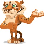 Cute Tiger Cartoon Vector Character AKA Tiger Bone - Showcase