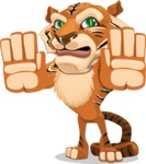 Cute Tiger Cartoon Vector Character AKA Tiger Bone - Stop 2