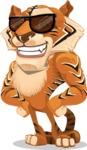 Cute Tiger Cartoon Vector Character AKA Tiger Bone - Sunglasses