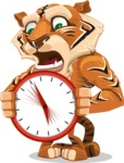 Cute Tiger Cartoon Vector Character AKA Tiger Bone - Time is Yours
