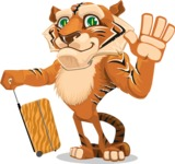 Cute Tiger Cartoon Vector Character AKA Tiger Bone - Travel 1