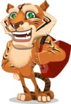 Cute Tiger Cartoon Vector Character AKA Tiger Bone - Travel 2