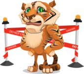 Cute Tiger Cartoon Vector Character AKA Tiger Bone - Under Construction 2