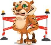 Cute Tiger Cartoon Vector Character AKA Tiger Bone - Under Construction 2