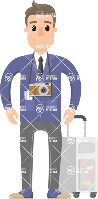 Traveler's Adventures - Business traveler guy with camera