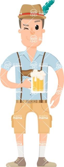 Travel Cartoon Vector Graphic Maker - Beer fest tourist