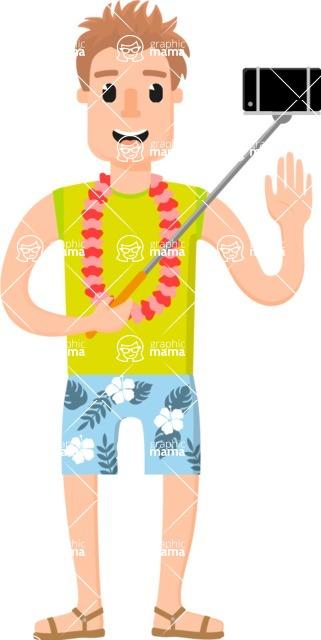 Traveler's Adventures - Man with selfie stick