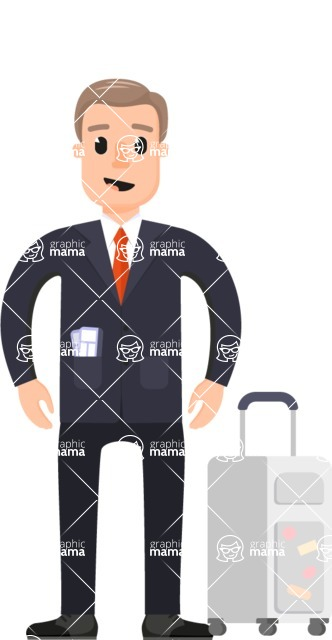 Travel Cartoon Vector Graphic Maker - Man on a business trip