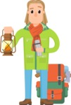 Travel Cartoon Vector Graphic Maker - Man on an Expedicion