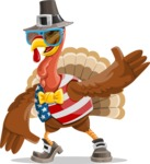 Jonathan Turkey the Patriot - Sunglasses