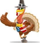 Jonathan Turkey the Patriot - Thumbs Up