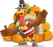 Jonathan Turkey the Patriot - Pumpkin 4
