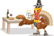 Jonathan Turkey the Patriot - Thanksgiving feast