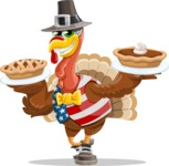 Jonathan Turkey the Patriot - Pumpkin pies