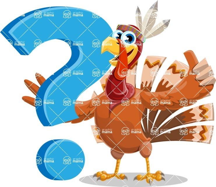 Indian Turkey Cartoon Vector Character AKA Snoody the Native Turkey - Question