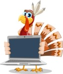 Snoody the Native Turkey - Laptop 2