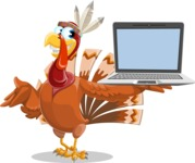 Snoody the Native Turkey - Laptop 3