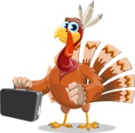 Snoody the Native Turkey - Briefcase 1